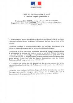 """Rapport """"Filiation, origines, parentalité : le droit face aux nouvelles valeurs de responsabilité générationnelle"""" - Annexes"""
