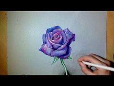 How i draw a realistic Purple Rose