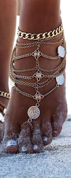 Summer jewellery Love the anklet