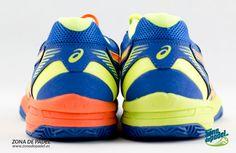#ASICS GEL PADEL EXCLUSIVE 4 2015, Las primeras zapatillas de #padel con un pie de cala color