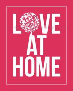 Love at Home  Subway Art  Digital File by simplyfreshdesigns, $5.00