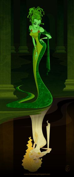 Pinup Arena • erinleongart: Reflection 1 of 2: Medusa ...