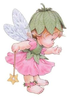 Little Fairy Costume Clipart Baby, Cute Fairy, Baby Fairy, Cute Images, Cute Pictures, Image Deco, Decoupage, Art Aquarelle, Holly Hobbie