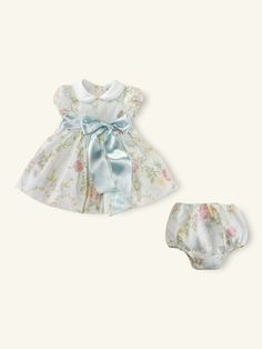 Striped Floral Baby Dress
