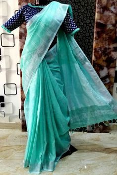 Saree Jacket Designs, Cotton Saree Blouse Designs, Wedding Saree Blouse Designs, Linen Blouse, Simple Blouse Designs, Stylish Blouse Design, Designer Blouse Patterns, Simple Sarees, Trendy Sarees