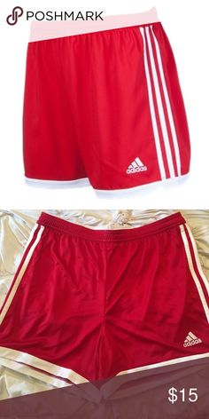WOMENS ADIDAS SOCCER SHORTS- RED RED Women's adidas soccer shorts adidas Shorts