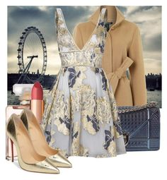 """""""Party season #6"""" by jacisummer ❤ liked on Polyvore featuring Lauren Ralph Lauren, Chanel, Charlotte Tilbury, Christian Dior, Notte by Marchesa and Christian Louboutin"""