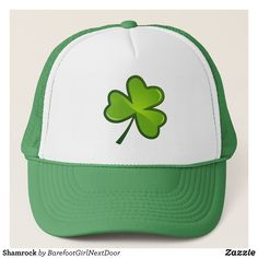 fcb5e0b9d49a0 Shamrock Trucker Hat - Urban Hunter Fisher Farmer Redneck Hats By Talented  Fashion And Graphic Designers