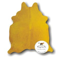 Kaymanta | The Best On Hides   Mustard Yellow | Dyed On Solid White Cowhide  Rug