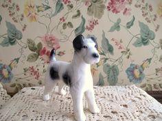 Vintage Terrier Dog Figurine Cute Old Dog. $12.00, via Etsy.