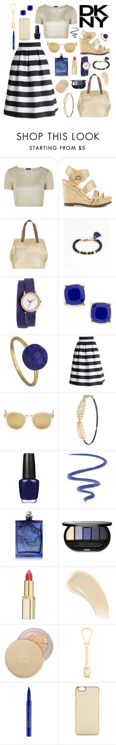 Stripes & gold by leinijewelry on Polyvore featuring Topshop, Chicwish, Fergie, Nixon, Blue Tassel, BP., Betty Carré, ADOPTED, RetroSuperFuture and Charlotte Russe