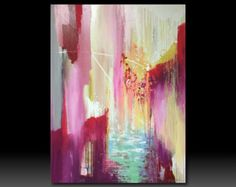 Sold This is for custom order Original Red abstract by YueJinArt