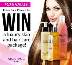 Enter to win a Luxury Skin & Hair Care Package from @HairBarNYC http://virl.io/niHXhdGG