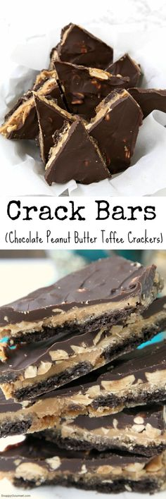 Crack Bars (aka Chocolate Peanut Butter Toffee Crackers), the best easy dessert! Beware, highly addictive! Great for Christmas or anytime! SnappyGourmet.com