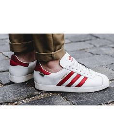 newest 559d0 483b7 Mens Adidas Gazelle City Pack White Red Trainer Adidas mens shoes, the  latest style, but also a combination of fashion and cool the latest style  shoes.