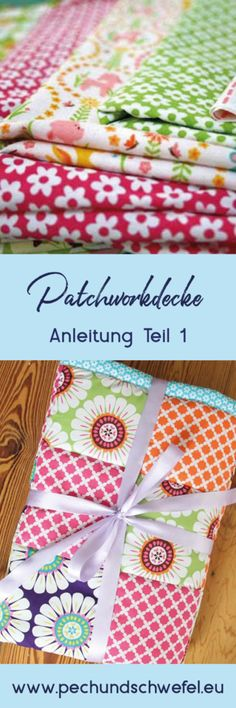 Sewing a patchwork blanket - step by step instructions part nähen – Schritt für Schritt Anleitung Teil 1 Instructions on how to sew a patchwork blanket, explained step by step with many pictures and examples. A tutorial from Pech & Schwefel - Quilt Baby, Baby Patchwork Quilt, Baby Knitting Patterns, Knitted Baby Blankets, Blanket Crochet, Patch Quilt, Handmade Baby, Machine Quilting, Quilt Blocks