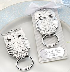 Owl Baby Shower Favors Keychain
