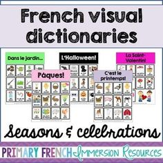 French visual dictionaries - Les dictionnaires visuels - S Teaching French, Teaching Writing, Teaching Science, Teaching Tools, Teaching Ideas, File Folder Activities, Visual Dictionary, Core French, French Classroom
