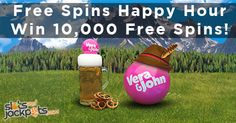 Win 10,000 Free Spins during Happy Hour in the Slotoberfest at Vera & John. There will be cash prizes as well such as €6000 to the tournament winner!  Read more..  http://www.slotsandjackpots.com/en/news/slotoberfest-win-lots-of-free-spins/  #casino #bonus #freespins #slot #win #free #jackpot #happyhour #tournament #verajohn #anniversary