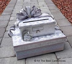 Silver Bling Wedding Card Box with Tiers,Extra Large,Holds 200 envelopes,All The Best Card Boxes Silver Wedding Bands, Bling Wedding, Card Box Wedding, Wedding Ideas, Silver Weddings, Wedding Ring, Gothic Wedding, Wedding Ceremony, Wedding Decorations