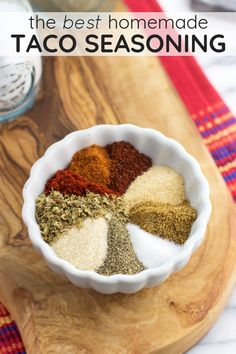 This is the BEST homemade taco seasoning. Made with kitchen staples, the spice level is customizable. This DIY taco seasoning blend is MSG-free, gluten-free, preservative-free, and easy to store. This is the BEST homemade taco seasoning. Gluten Free Taco Seasoning, Make Taco Seasoning, Seasoning Mixes, Mccormick Taco Seasoning Recipe Copycat, Burrito Seasoning Recipe, Mexican Chicken Seasoning, Tex Mex, Homemade Spices, Homemade Seasonings