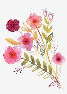 Margaret Berg Art: Pink Blooms