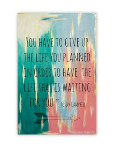 The Life You Planned - Bohemian Quote Art 11 X 14 -Print - Gold Print -Inspirational Chic Art - Mixed Media Print