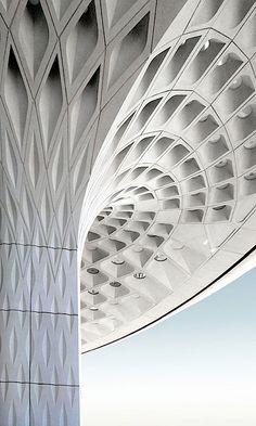 #Mumbai airport terminal by Skidmore, Owings and Merrill.