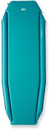 The Women& REI AirRail Self-Inflating Sleeping Pad features a hybrid design that offers low weight, compressibility and ample sleeping comfort. Available at REI, Satisfaction Guaranteed. Camping And Hiking, Camping Glamping, Hiking Gear, Camping Gear, Camping Stuff, Backpacking, Tent Living, Outdoor Living, Hybrid Design
