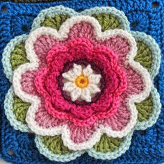 Getting ready to crochet the Lily Pond Blanket! Free Pattern found at http://www.stylecraft-yarns.co.uk/Crochet.htm