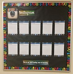 Instagram bulletin board with files