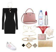 """Senza titolo #1150"" by txmila on Polyvore featuring moda, The Row, adidas, Evian, Van Cleef & Arpels, La Perla, Givenchy, Too Faced Cosmetics, Prada e Monsoon"