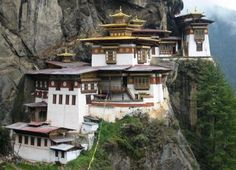 Taktsang Lhakhang, or Tiger's Nest Monastery, sits high above Paro Valley.    Bhutan Kingdom in the clouds  http://www.nationalgeographicexpeditions.com/expeditions/bhutan/photos