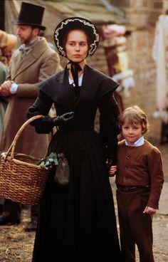 Tara Fitzgerald as Helen in The Tenant of Wildfell Hall (TV Mini-Series, 1996).