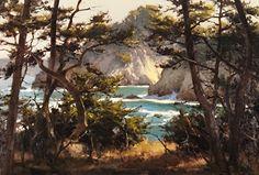 Morning Light & Surf, Pt Lobos by Brian Blood - Oil