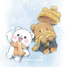 - Milk & Mocha Bear Official - Winter ❄ ⠀⠀⠀⠀⠀⠀⠀⠀⠀ Check Highlight for mobile wallpaper version ♡ ⠀⠀⠀⠀⠀⠀⠀⠀⠀ Bear Wallpaper, Kawaii Wallpaper, Mobile Wallpaper, Animal Wallpaper, Walpapers Cute, Cute Love Gif, Cute Bear Drawings, Cute Kawaii Drawings, Cute Couple Cartoon