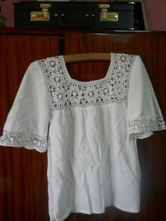 Best 12 Long sleeved white cotton blouse made with gauze fabric, Crochet peasant top for women T-shirt Au Crochet, Crochet Fabric, Crochet Motifs, Crochet Tunic, Gauze Fabric, Irish Crochet, Crochet Clothes, Crochet Patterns, White Cotton Blouse