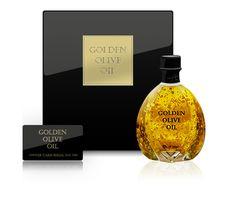24 karat gold flakes in Extra Virgin Oil from Hvar http://mexkitchen.blogspot.com/#