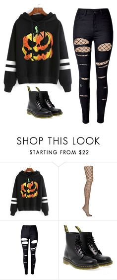 """Untitled #81"" by ejeffrey3 on Polyvore featuring WithChic, DKNY and Dr. Martens"