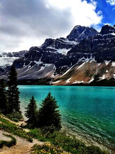 Bow Lake in Jasper National Park, Canada
