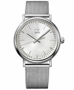 ck Calvin Klein Watch, Men's Swiss Surround Stainless Steel Mesh Bracelet 43mm K3W21126