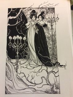 """""""He looks as most men do,"""" she remarked, coldly. Jonathan Strange and Mr Norrell drawing by Rachel Oakes. Lady Pole, Arabella Strange, Lost Hope"""
