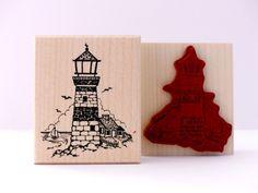 Stempel Leuchtturm am See  von frau zwerg auf DaWanda.com € 8,70