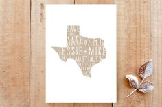 State Stamp- Texas Save the Date Cards by Fig and Cotton Paperie at minted.com