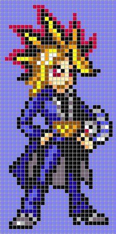 Yugi Moto - Yu-Gi-Oh!  perler bead pattern: