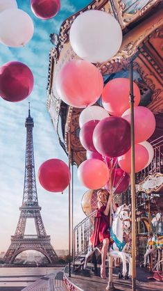 "The Tour Eiffel is truly a sign of Paris. It is the most recognizable feature of the city and, in reality, the world. Located in the arrondissement, the Eiffel Tower was a marvel of ""contemporary"" engineering. Paris Photography, Travel Photography, Ballons Photography, Eiffel Tower Photography, Woman Photography, Amazing Photography, Fashion Photography, Rick Und Morty, Paris Pictures"