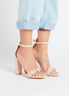 Minnie Heel - Blush Suede [Follow us: @Peppermayo for more cuteness and daily fashion inspo.] High Heels, Shoes Heels, Online Shopping Shoes, Latest Makeup, Latest Shoes, Your Shoes, Daily Fashion, Heeled Mules, Latest Trends