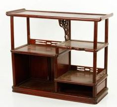 20TH C. CHINESE HARDWOOD CURIO CABINET Asian Art & Antiques Auction | Official Kaminski Auctions