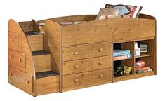 Wow would love this for each of my boys rooms.  Stages Youth Loft Bed w/ Storage @ Ashley