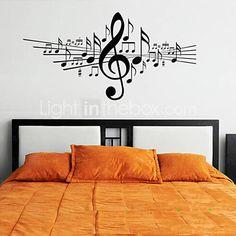 Si te gustan los vinilos decorativos musicales para for Calcomanias para dormitorios